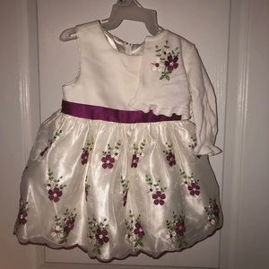 Infant dress w/ matching sweater, 12 months